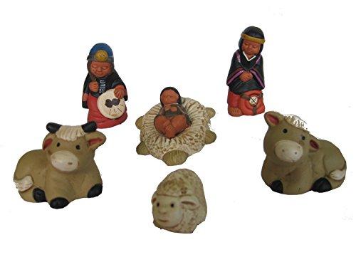 Discount ethnique – Crèche terre cuite Mapuche H.6 cm