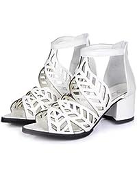 Liquidación! Covermason Vintage Summer Women Shoes Sandalias Plataforma Wedge High Heels Bohemian Shoes(36 EU, Blanco)