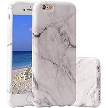 Funda iPhone 6s,ZXK CO Carcasa del Gel TPU Silicona para iPhone 6/6s 4.7 '' Diseño Mármol de Amortiguación y Anti-Arañazos Espalda Parachoques Tapa Trasera Case Caso-Gris