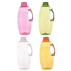 TRUENOW Ventures Pvt. Ltd. Unbreakable� Multicolor Covered Open 4 Water Bottle Set