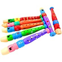 genren52de madera Piccolo Flauta Silbato juguete niño Niña Regalo de Navidad Fiesta de cumpleaños Musical Juguete
