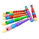 genren52in legno piccolo Flauto Whistle Toy Boy ragazza regalo di natale festa di compleanno, giocattolo musicale