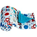 Mee Mee Double Layered Soft Baby Blanket, Train, Red