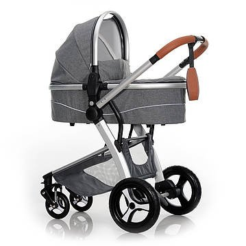 Ligero cochecito bebé Plus Air Motion 2 in1 Pure Grey Melange