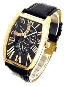Reloj guess dress steel cb ch.o.ro e/ne reloj para Unisex Analógico de Cuarzo con brazalete de Piel de vaca 12536G3