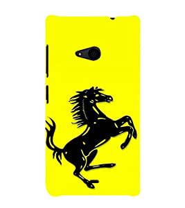 EPICCASE Ferrari horse Mobile Back Case Cover For Nokia Lumia 535 (Designer Case)