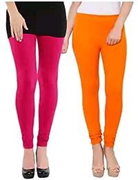 Thinkvilla Apparel Leggings For Womens & Girls Cotton Lycra Churidar Leggings-Sizes:-M,L,XL,2XL,3XL,4XL- Pack...