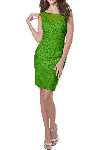 Victory Bridal Anmutig 2017 Neu Grau Spitze Applikation V-ausschnitt Promkleider Abiballkleider Mini Kurz Grün