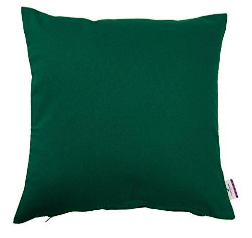 Tom Tailor 575403  - Funda para cojín 60 x 60 cm, sin relleno, color verde