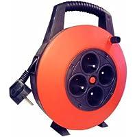 Voltman VOM530403 - Cable alargador en carrete (3 G 1,5, 7,5 m)