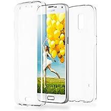Caso doble para Samsung Galaxy S5 / S5 Neo | Funda de silicona transparente cubre todo | Delgada 360° completa casos del smartphone OneFlow | Back Cover en Transparent