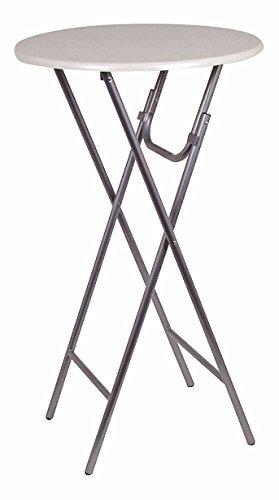 Metall Stehtisch klappbar - 110x60 cm - Garten Klapptisch Biertisch Party Tisch rund