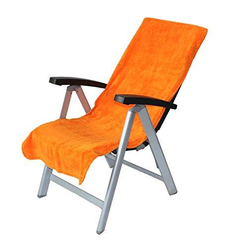 Floringo Schonbezug Gartenstuhl Campingstuhl Twin-Star 2er Pack 60x130 95° waschbar (orange)