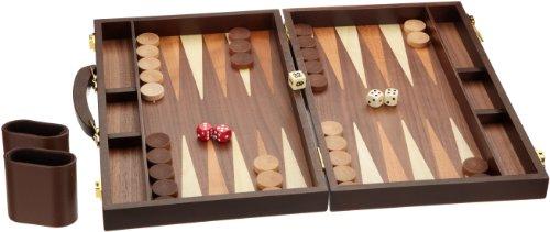 Philos 1109 Syros - Maletín con backgammon (tamaño mediano)