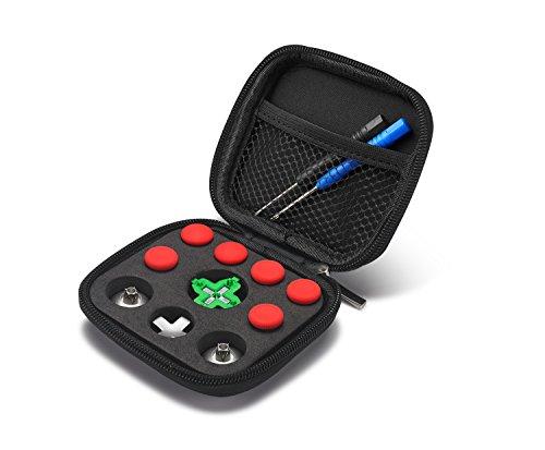 Supremery Xbox One Elite Sticks Paddles Zubehör aus Aluminium - 11 Teiliges Set/Rot
