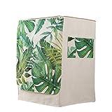 Vosarea Waschmaschine Abdeckung Palmblättern Mustern Staubdicht Deckel mit Tasche für Waschmaschine Frontlader Trockner