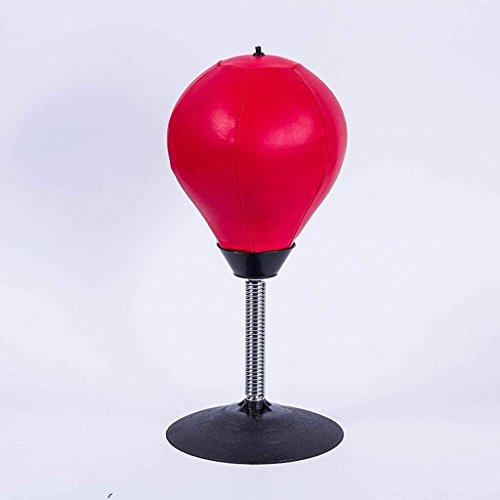 Flowing Water Aufblasbare Desktop Punching Ball Red Kunstleder Dekompression Ball Spaß Geschenk Für Stress-Buster,Red