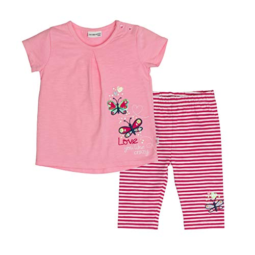 SALT AND PEPPER Baby-Mädchen Bekleidungsset Set Wild Uni Stick Mehrfarbig (Candy Rose Pink 857-875) 86