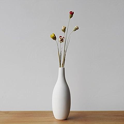 Beata. F einfach Burning Creative Ornaments Small Mouth Weiß Handmade Keramik Art Vasen Dekoration Ornament.
