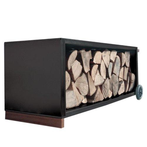 Radius Firewood - Carrello porta legna, colore: nero, nero, Standard
