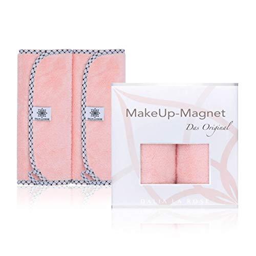 DALIA LA ROSE Make-Up-Magnet - Abschminktücher im exklusiven Design - beidseitig verwendbare Gesichtsreinigungstücher - Make-Up-Entferner-Tuch waschbar und wiederverwendbar - Doppelpack 50x25 cm