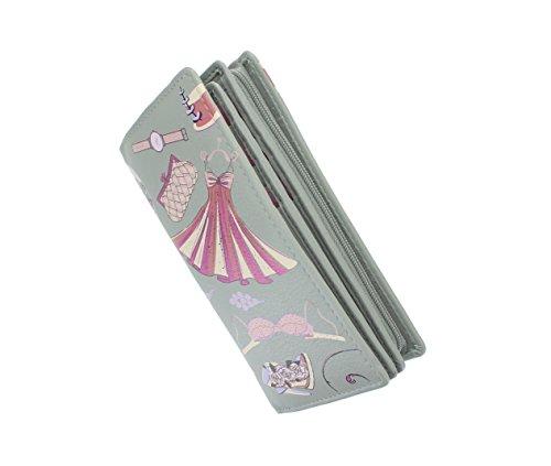 Pelle mala PALOMA Collection Borsa di cuoio stampata - RFID Protezione 3305_85 Grey Grey