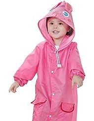 Highdas Estaciones niños de la historieta con capucha impermeable con bolsillos 90-130cm