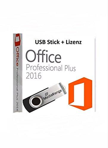 Preisvergleich Produktbild 8 GB USB Drive + Microsoft Office Professional Plus 2016 für 1 PC inkl. Kundensupport der Fa. Krolltech