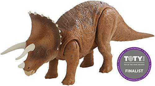 Mattel Jurassic World FMM24 - Roarivores Triceratops (Jurassic World Dinosaurier)