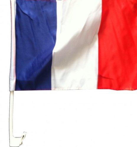 1 x Autofahne Autoflagge 45 x 30 Frankreich Auto Fahne Fahnen Flagge Flaggen WM 2014 mit Halterung