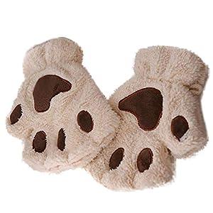 RFGHATG Women's Fingerless Gloves Winter Wrist Arm Warm Knitted Keyboard Long Gloves Clothing Half Finger