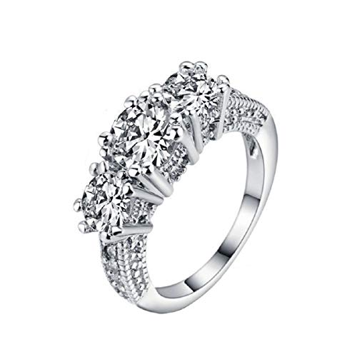 Kostüm Schmuck Dackel - Ringe, Barlingrock Shiny Luxury Edelstein Ring Frauen Party Bankett Kostüm Schmuck Dekor Gericht Birthstone Braut Engagement Ehering