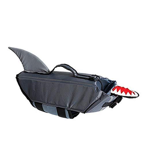 Welpen Hai Kostüm - LOVEPET Hundeschwimmweste Haustier Badeanzug Schwimmhund Jacke Hai-Design Haustier-Schwimmweste Kleidung Für Hunde