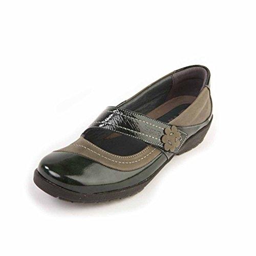 Suave , Chaussures de ville à lacets pour femme Graphite/Patent