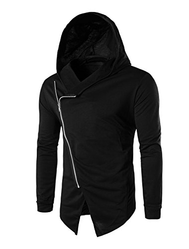 allegra-k-men-inclined-zipper-long-sleeves-hooded-sweatshirt-cardigan-black-m