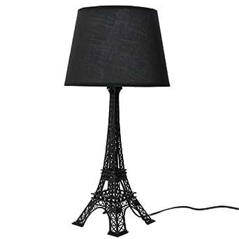 Grande Lampe Noir Tour Eiffel H 52cm