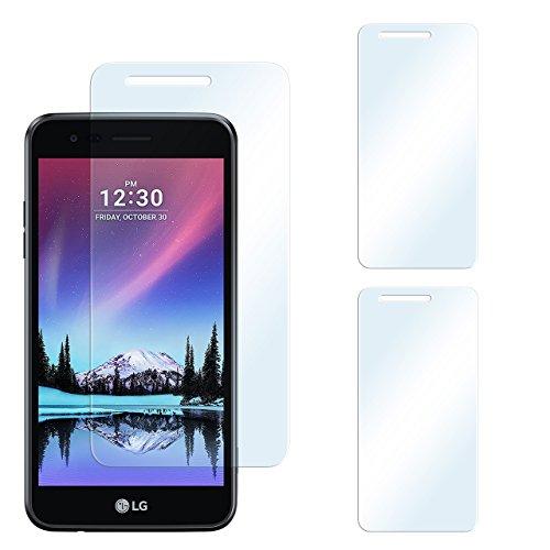 2x LG K4 (2017) Schutzfolie Klar Display Schutz [Crystal-Clear] Screen protector Bildschirm Handy-Folie Dünn Displayschutz-Folie für LG Mobile K4 (2017) Displayfolie