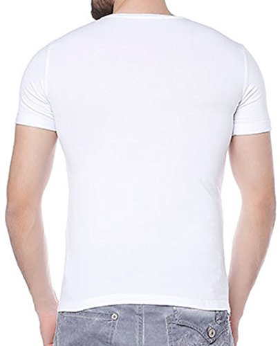 Red Bridge Uomo Maglieria / T-shirt Nelio Bianco