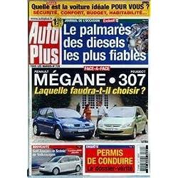 AUTO PLUS [No 729] du 27/08/2002 - LA VOITURE IDEALE - LE PALMARES DES DIESELS LES PLUS FIABLES - MEGANE 307 - PERMIS DE CONDUIRE - GOLF TOURAN - SCENIC DE VOLKSWAGEN.