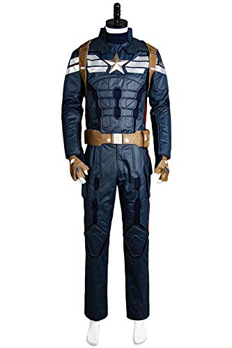 Manfu Captain America 2 The Winter Soldier Steve Rogers Uniform Outfit Cosplay Kostüm Herren ()