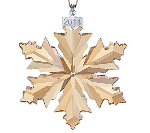Swarovski scs 2014christmas ornamento oro 5059027