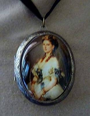 pendentif medaillon porte photo Sissi impératrice