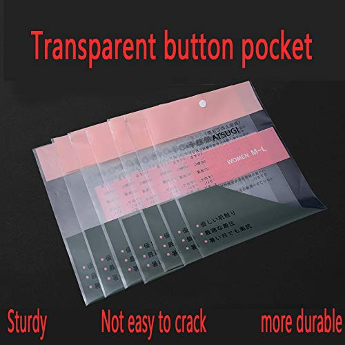 20Pcs Transparente Schaltfläche Tasche Datei Schaltfläche Tasche Versiegelt Feuchtigkeit (Datei-ordner-schaltfläche)