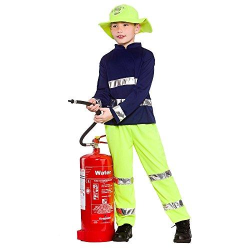Feuerwehrmann Sam Dress Up Outfit - Boys Fireman Rescue Fancy Dress Up