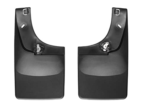WeatherTech No Drill Mud Flap for Select Chevrolet Silverado 3500 HD/GMC Sierra 3500 HD Models (Black) by WeatherTech