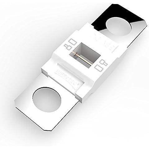 Auprotec® MIDI fusible de alto voltaje atornillable 40A - 100A selección: 80A Ampere blanco, 5 piezas