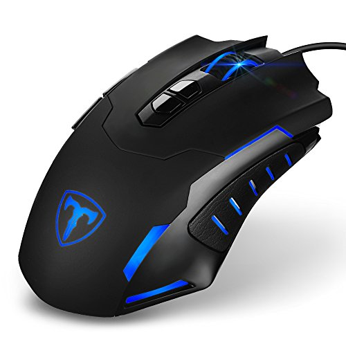 HoLife Gaming Maus 7200 DPI LED Gamer Maus Programmierbare USB-Wired Game Mouse für Pro Gamer, PC, Laptop usw