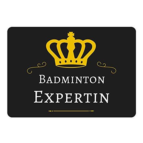 Mousepad Badminton Expertin schwarz