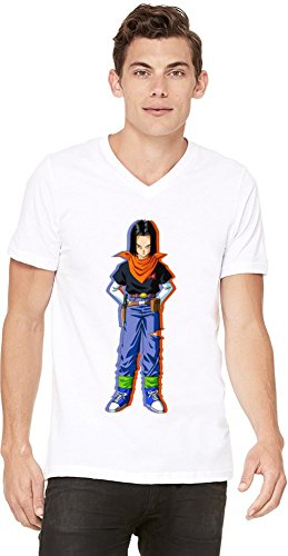 Android 17 T-shirt col V pour hommes Small