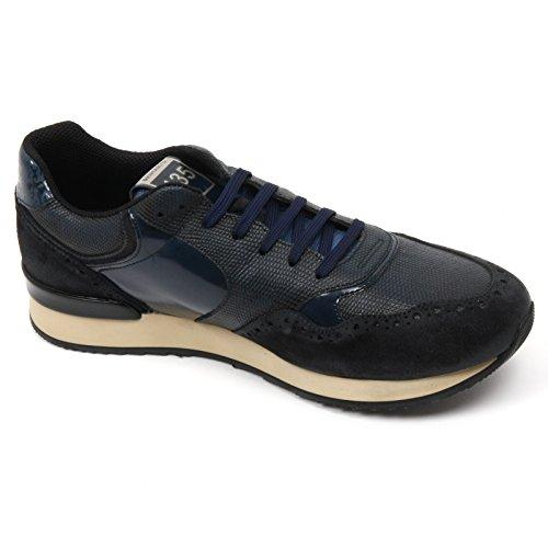 C2338 sneaker uomo BRIMARTS scarpa blu fondo gomma shoe man Blu
